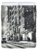 Snow - New York City - Winter Night Duvet Cover by Vivienne Gucwa
