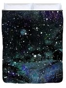 Snowfall At Night Duvet Cover by Barbara Griffin
