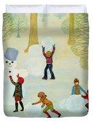 Snowmen Duvet Cover by Ditz