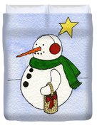 Snowy Man Duvet Cover by Norma Appleton