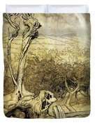 So Nobody Can Quite Explain Exactly Where the Rainbows End Duvet Cover by Arthur Rackham