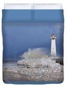 Sodus Bay Lighthouse Duvet Cover by Everet Regal