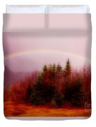 Soft Cape Breton Rainbow Duvet Cover by John Malone