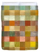 Soft Palette Rustic Wood Series Collage L Duvet Cover by Michelle Calkins
