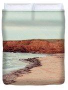 Soft Rain On The Beach Duvet Cover by Edward Fielding