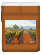 Sonoma Vineyard Duvet Cover by Carolyn Jarvis