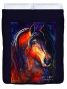 Soulful Horse Painting Duvet Cover by Svetlana Novikova