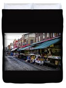 South Philly Italian Market Duvet Cover by Bill Cannon