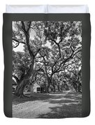 Southern Lane Monochrome Duvet Cover by Steve Harrington