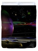 Space Abstraction Duvet Cover by David Lane