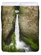 Spahats Falls Waterfall In Wells Gray Provincial Park Duvet Cover by Elena Elisseeva