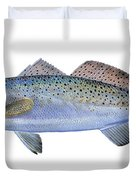 Speckled Trout Duvet Cover by Carey Chen