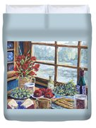 Spice Table By Prankearts Duvet Cover by Richard T Pranke