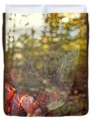Spider Web Duvet Cover by Edward Fielding