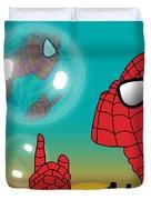Spiderman 4 Duvet Cover by Mark Ashkenazi