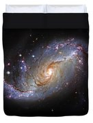 Spiral Galaxy Ngc 1672 Duvet Cover by The  Vault - Jennifer Rondinelli Reilly