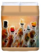 Spiritual Candles Duvet Cover by Music of the Heart