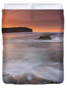 Splitting The Tides Duvet Cover by Mike  Dawson
