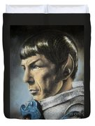 Spock - The Pain Of Loss Duvet Cover by Liz Molnar