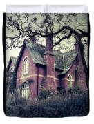 Spooky House Duvet Cover by Joana Kruse