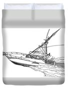 Sportfishing Yacht Duvet Cover by Jack Pumphrey