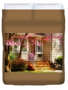 Spring - Door - Dogwood  Duvet Cover by Mike Savad
