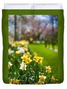 Spring In Holland. Garden Keukenhof Duvet Cover by Jenny Rainbow
