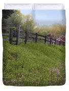 Spring on the farm Duvet Cover by Bill  Wakeley