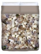 Spring Onions At The Market Duvet Cover by Michelle Calkins