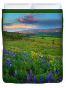 Spring Storm Passing Duvet Cover by Mike  Dawson
