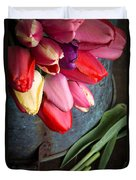 Spring Tulips Duvet Cover by Edward Fielding