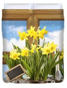 Spring Window Duvet Cover by Amanda And Christopher Elwell