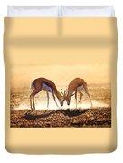 Springbok Dual In Dust Duvet Cover by Johan Swanepoel