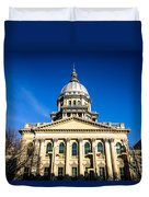 Springfield Illinois State Capitol Building Duvet Cover by Paul Velgos