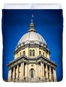 Springfield Illinois State Capitol Dome Duvet Cover by Paul Velgos