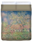 Springtime At Giverny Duvet Cover by Claude Monet