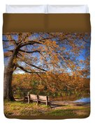 Springtime Fire Duvet Cover by Debra and Dave Vanderlaan