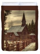 St Anne's Church In Winter Duvet Cover by Randy Hall
