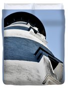St Augustine Lighthouse - Angels And Ghosts Duvet Cover by Christine Till