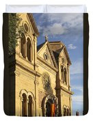 St. Francis Cathedral - Santa Fe Duvet Cover by Mike McGlothlen