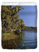 St Johns River Florida Duvet Cover by Christine Till