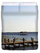 St Johns River Florida - Walk this way Duvet Cover by Christine Till