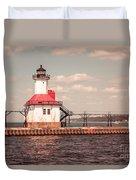 St. Joseph Lighthouse Vintage Picture  Photo Duvet Cover by Paul Velgos