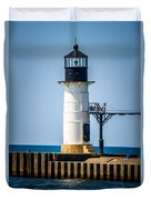 St. Joseph Outer Lighthouse Photo Duvet Cover by Paul Velgos