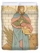 St Luke the Evangelist Duvet Cover by English School
