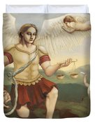 St. Michael the Archangel Duvet Cover by Shelley Irish