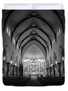 St Patricks Cathedral Fort Worth Duvet Cover by Joan Carroll
