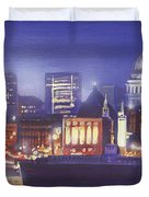 St Paul's Landscape river Duvet Cover by MGL Meiklejohn Graphics Licensing