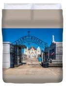 St Roch's Cemetery Duvet Cover by Steve Harrington