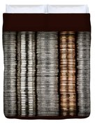 Stacked Coins Duvet Cover by Elena Elisseeva